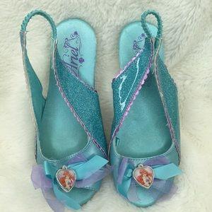 Disney Princess Ariel Dress Up Shoes Toddler 11/12